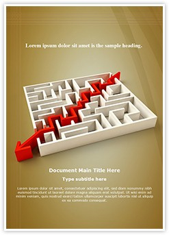 Solved Maze Puzzle Editable Word Template