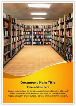 Library Bookshelf Editable Word Template