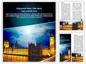 London Parliament Big Ben Editable Word Template