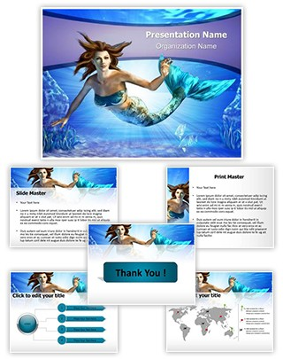 Mermaid Editable PowerPoint Template