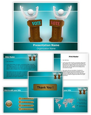 Political Candidates Editable PowerPoint Template