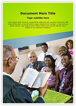 Congregation Church Sermon Editable Word Template