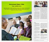 Congregation Church Sermon Editable Word Template