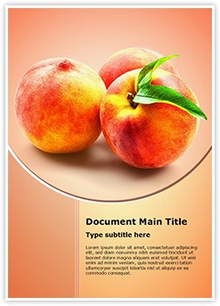 Peach Fruit Editable Word Template