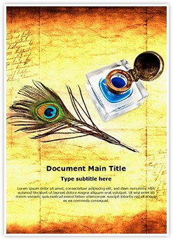 Peacock Quill Ink Editable Word Template