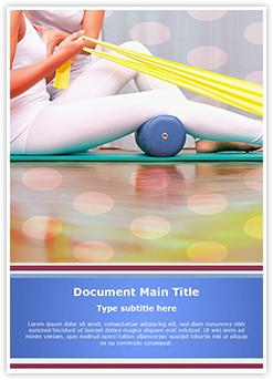 Physiotherapy Exercises Editable Word Template