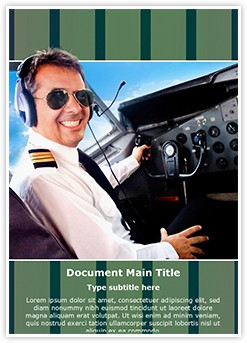 Pilot Airplane Cockpit Editable Word Template