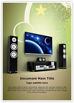 Plasma Home Cinema Editable Word Template