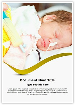 Preterm Newborn Editable Word Template