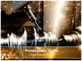 Metalworking Lathe Editable PowerPoint Template
