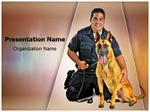 Police K9 Dog Editable PowerPoint Template