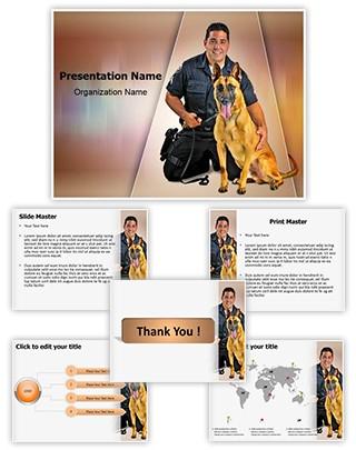 Police K9 Dog Editable PowerPoint Template