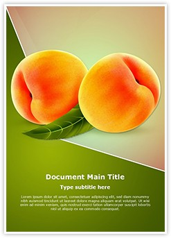 Ripe Peach Fruit Editable Word Template