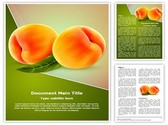 Ripe Peach Fruit Editable PowerPoint Template