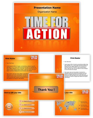 Time For Action Editable PowerPoint Template