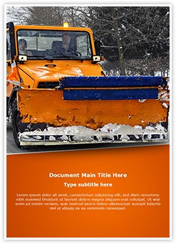 Snow Plow Truck Editable Word Template