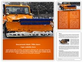 Snow Plow Truck Template