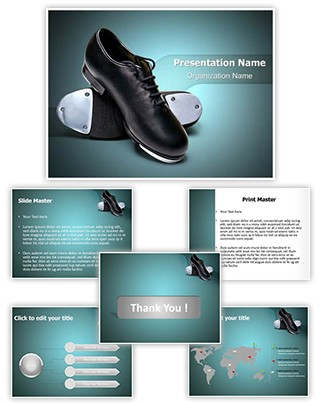 Tap Shoes Editable PowerPoint Template