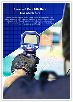 Speed Radar Gun Editable Word Template