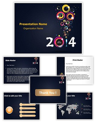 New Year Abstract Editable PowerPoint Template