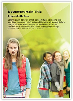 Bullying Editable Word Template