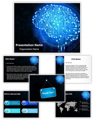 Circuit Brain Editable PowerPoint Template