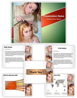 Head Lice Treating Editable PowerPoint Template