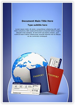 Tickets Passport Editable Word Template