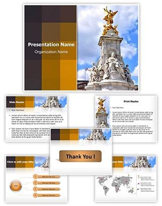 Victoria Monument Editable PowerPoint Template