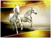 White Horses Editable PowerPoint Template