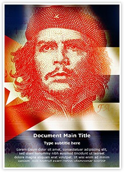 Cuba Che Guevara Editable Word Template