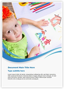 Children Drawings Editable Word Template