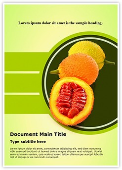 Sweet Gourd Editable Word Template