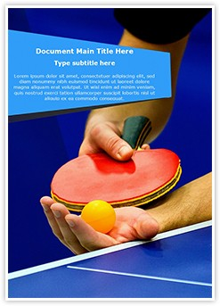 Table Tennis Service Editable Word Template
