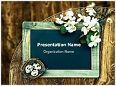 Chalkboard Nest Flowers Template