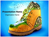Mountaineering Shoes PowerPoint Templates