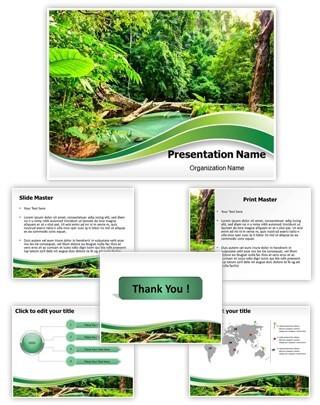 Jungle Green Editable PowerPoint Template