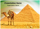 Pyramids Camel Editable PowerPoint Template