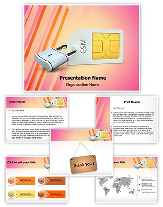 Sim Card Lock Editable PowerPoint Template