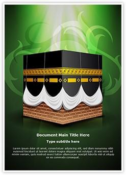 Kaaba Islam Editable Word Template