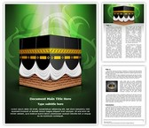Kaaba Islam Editable Word Template
