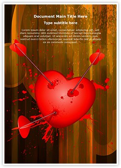 Love Broken Heart Editable Word Template