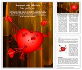 Love Broken Heart Editable PowerPoint Template