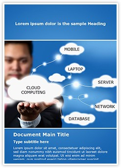 Cloud Computing Editable Word Template