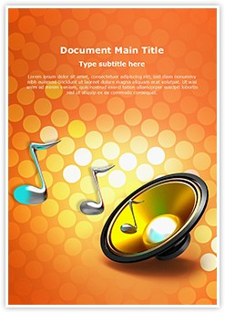 Audio Speaker Editable Word Template