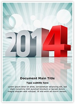 New Year Event Editable Word Template