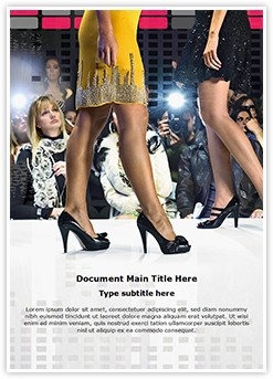 Fashion Show Editable Word Template