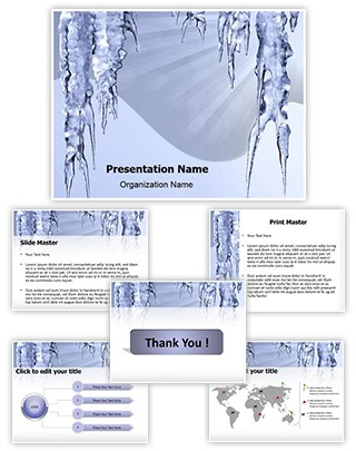 Icicles Hanging Editable PowerPoint Template