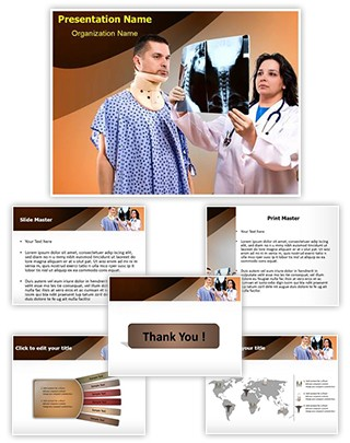Neck X-ray Editable PowerPoint Template
