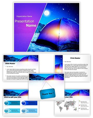 Night Camp Editable PowerPoint Template